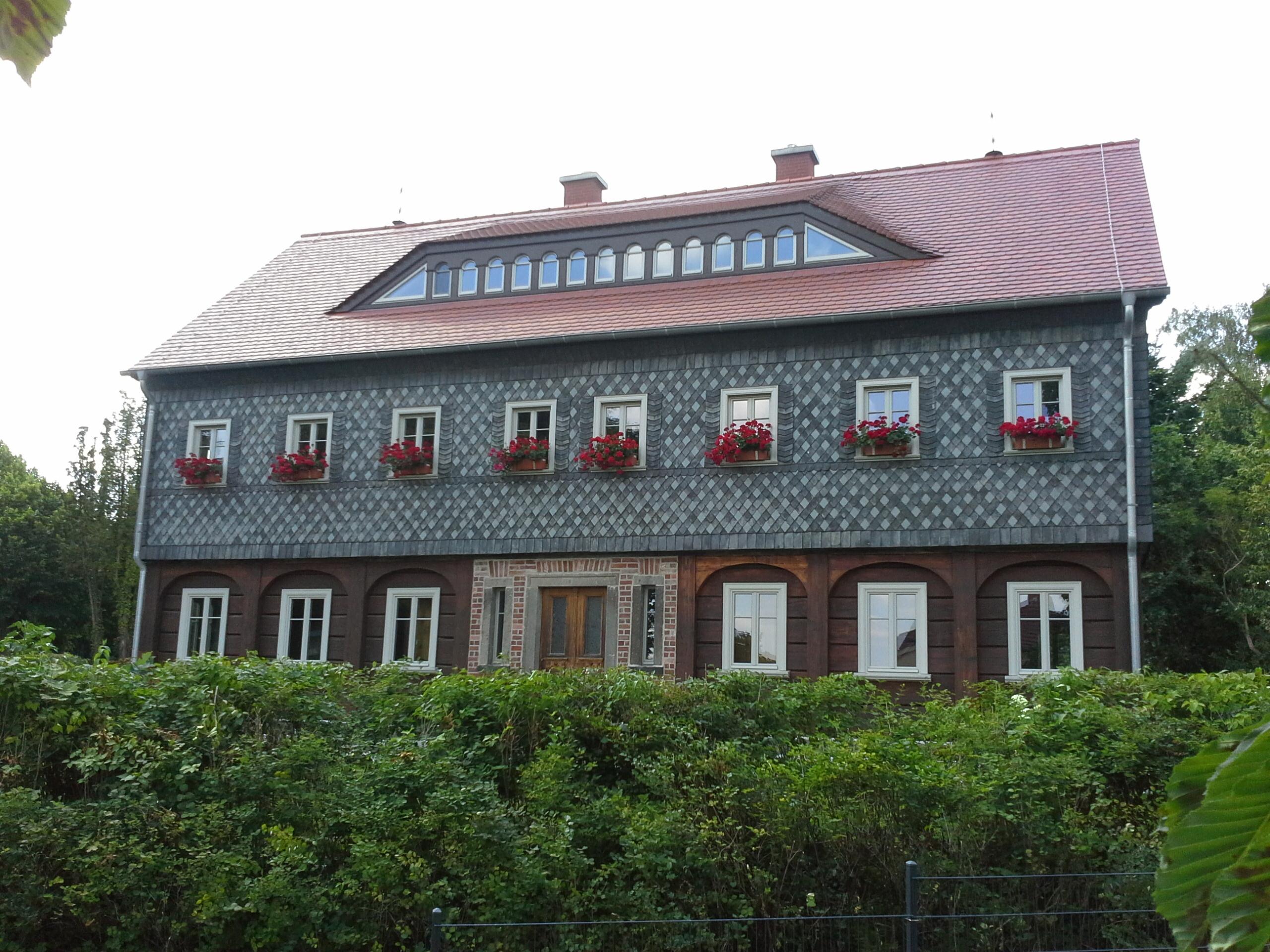 Umgebindehaus, Buckow bei Berlin – Kulturdenkmal  Bergländischer Stil