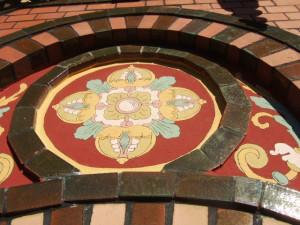 Detail Fassadenmalerei